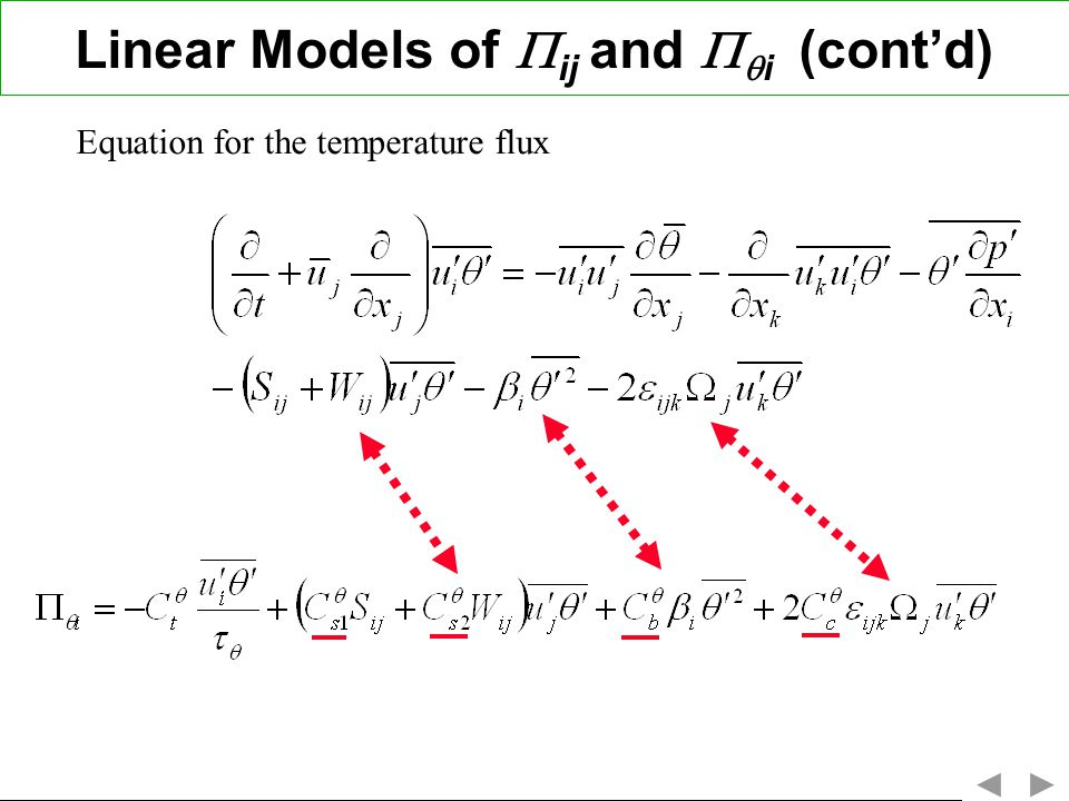 Linear Models of ij and i (cont'd)