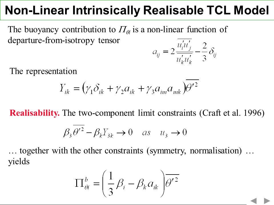 Non-Linear Intrinsically Realisable TCL Model