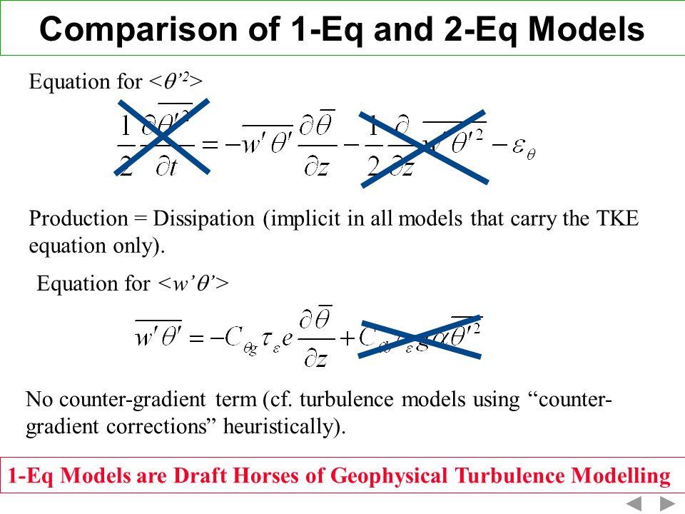 Comparison of 1-Eq and 2-Eq Models