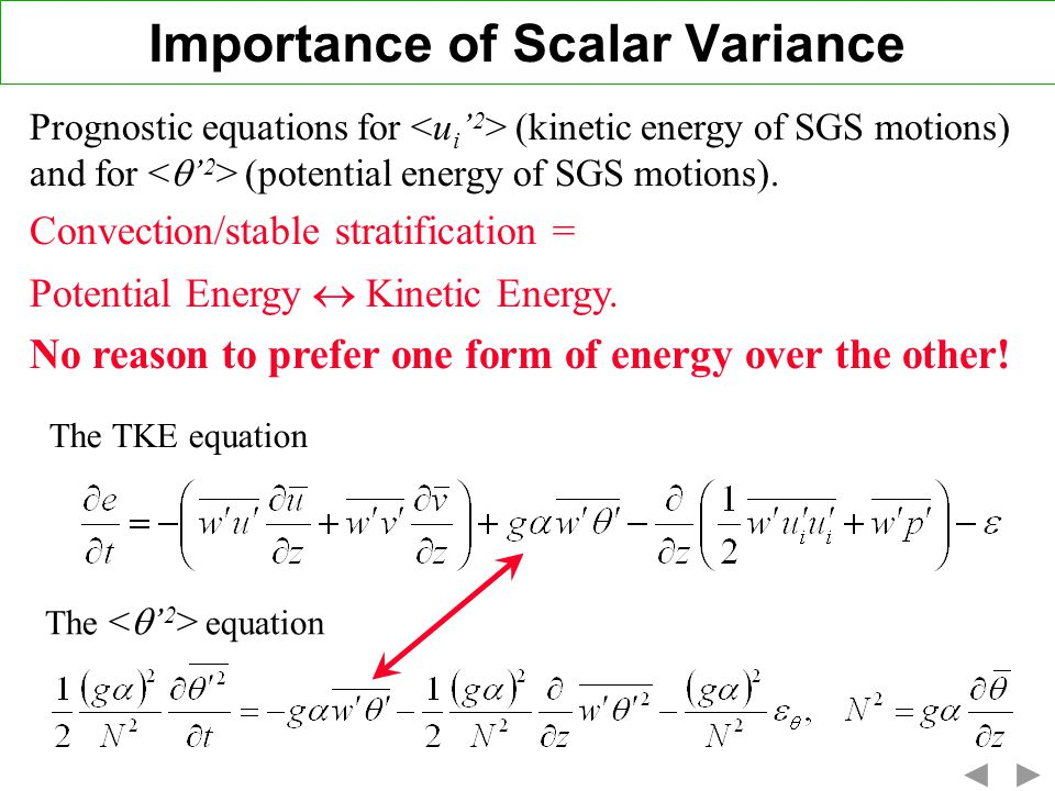 Importance of Scalar Variance