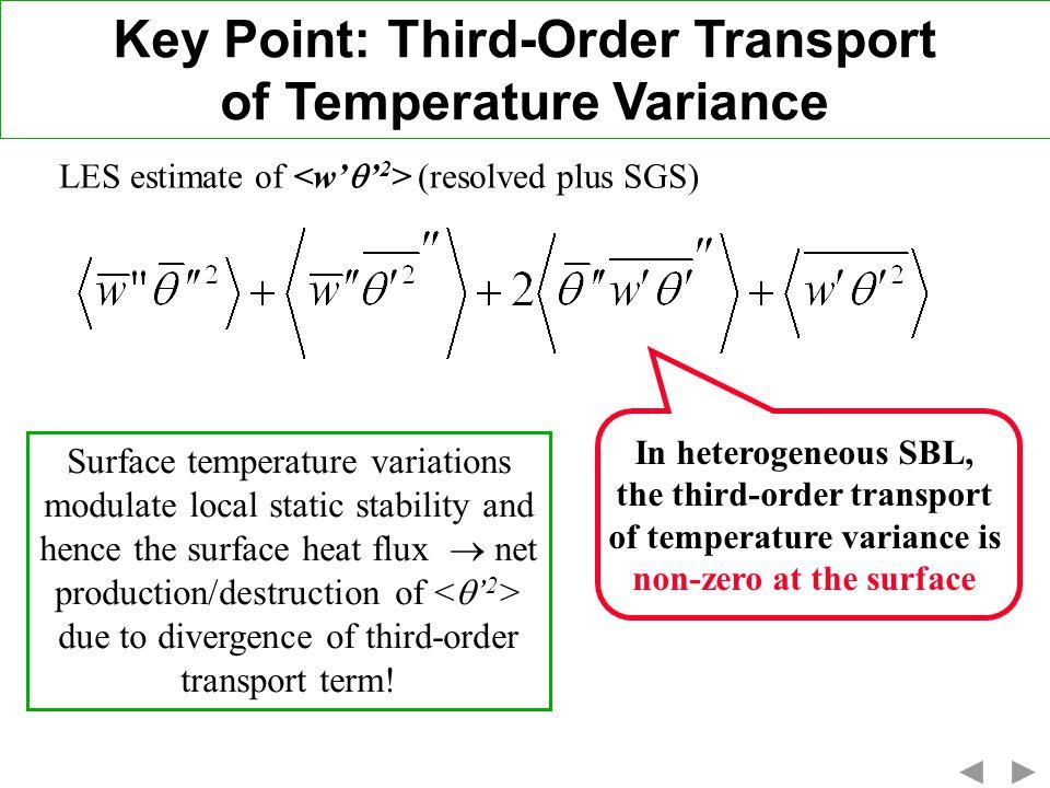 Key Point: Third-Order Transport of Temperature Variance