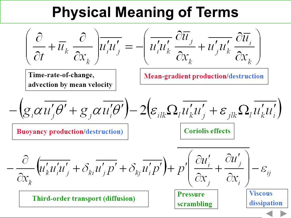 Physical Meaning of Terms