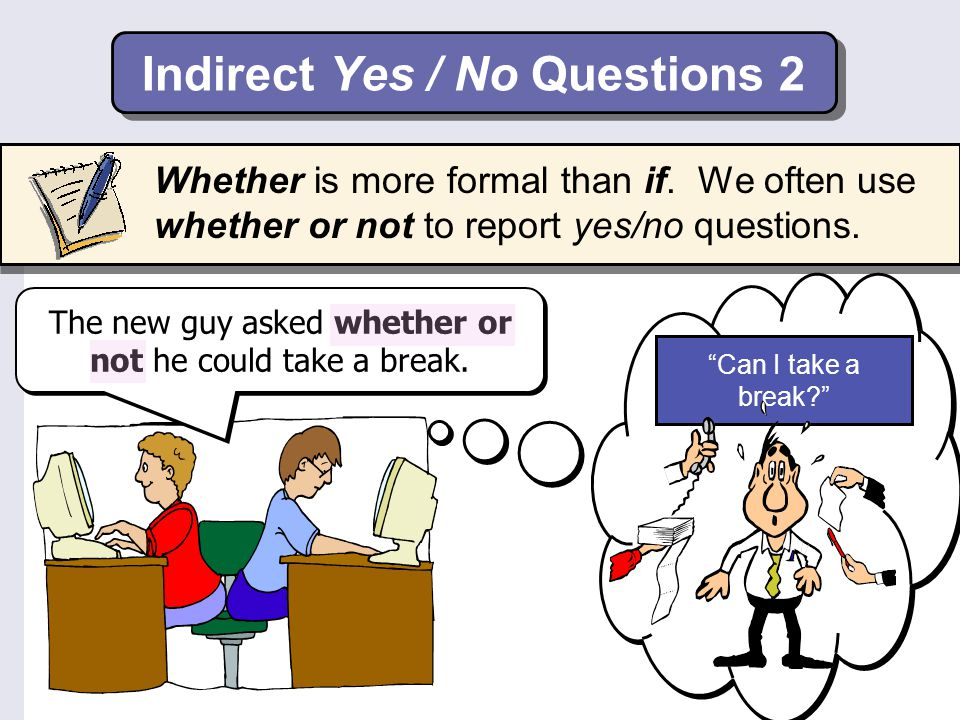 Indirect Yes / No Questions 2