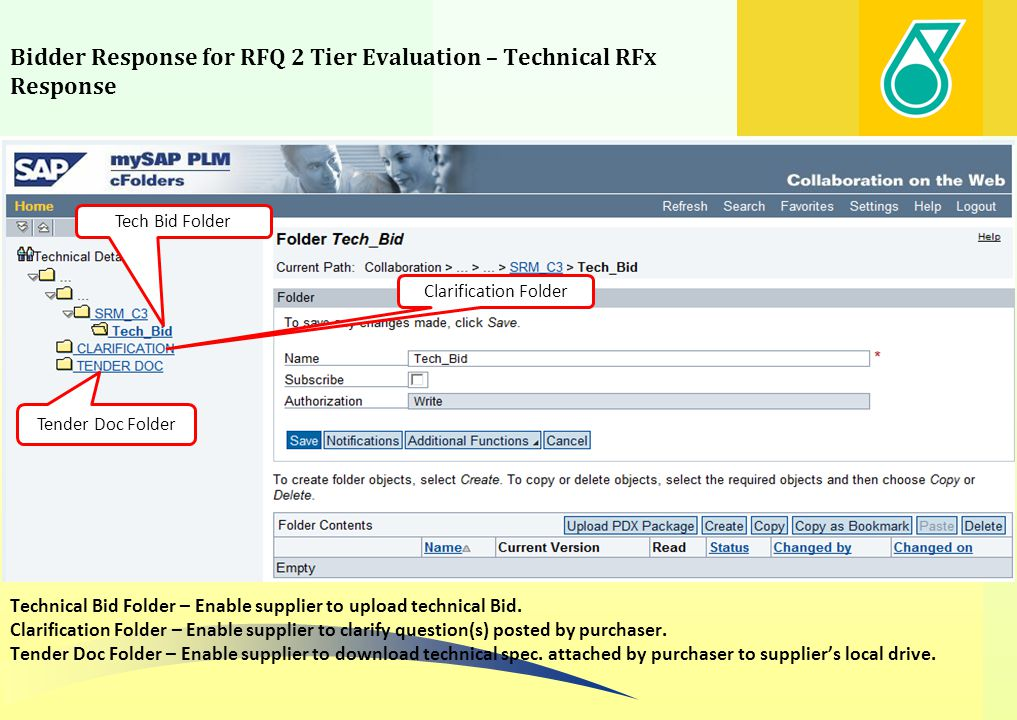 Bidder Response for RFQ 2 Tier Evaluation – Technical RFx Response