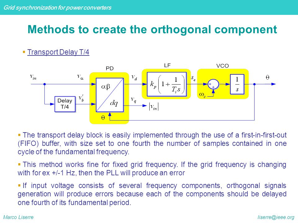 Methods to create the orthogonal component