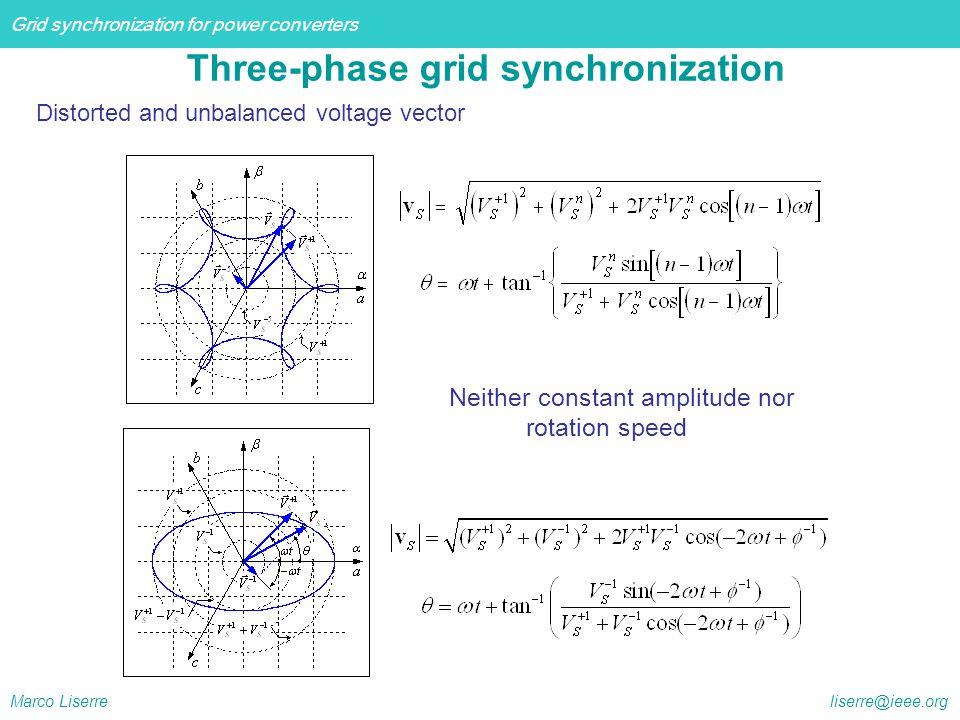 Three-phase grid synchronization
