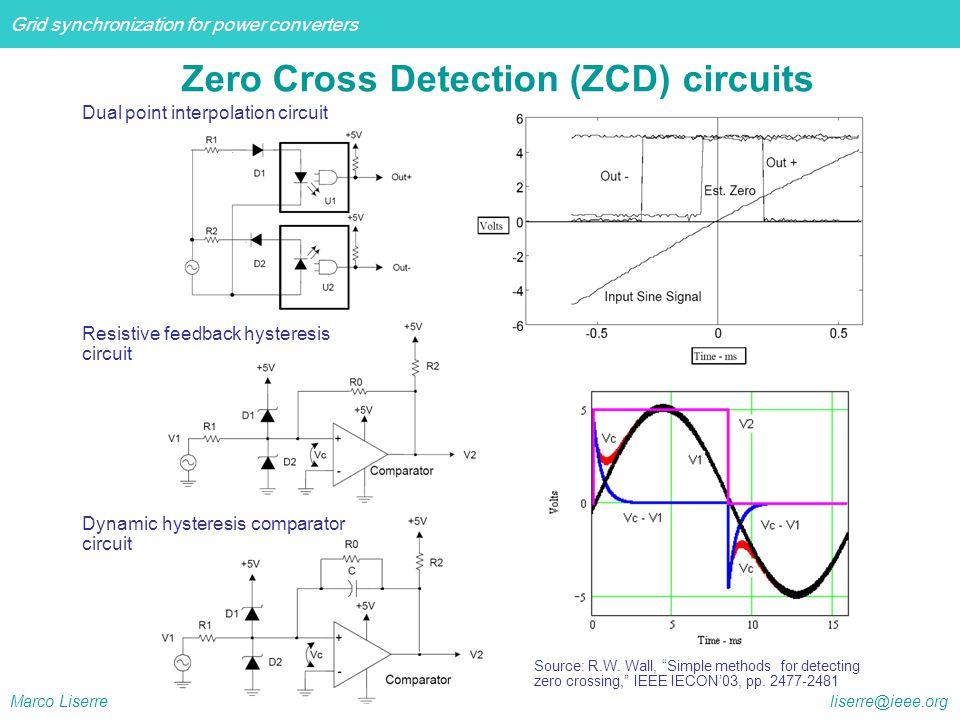 Zero Cross Detection (ZCD) circuits