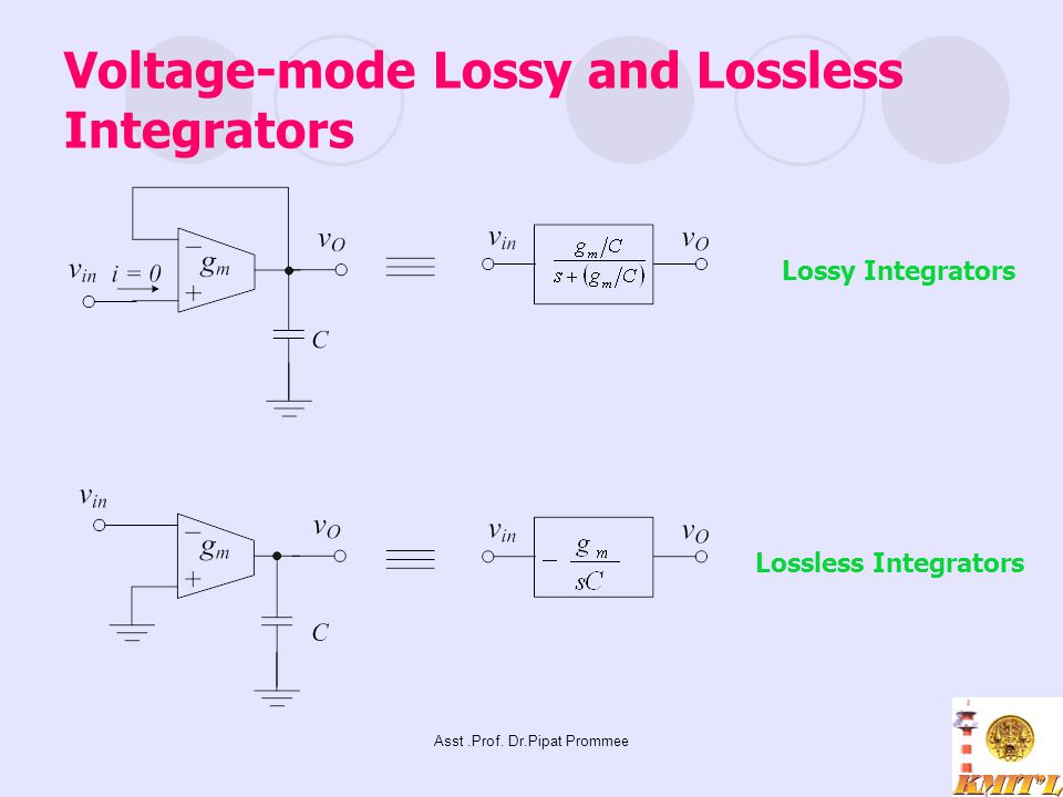 Voltage-mode Lossy and Lossless Integrators