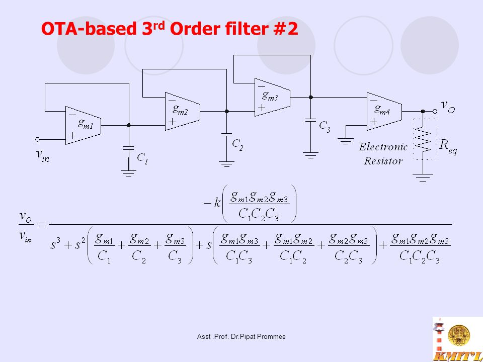 OTA-based 3rd Order filter #2