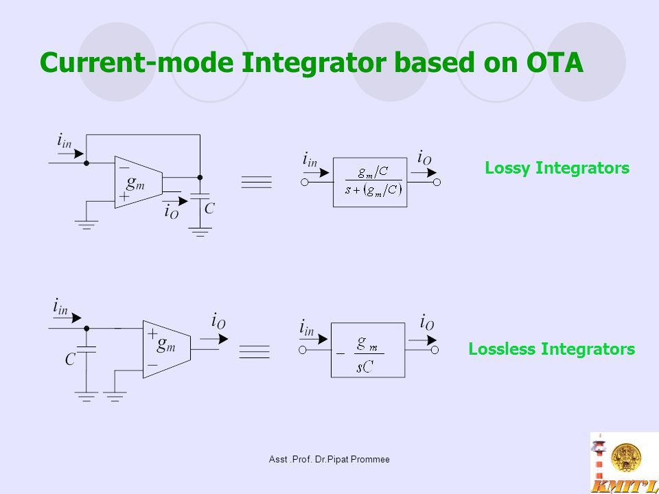 Current-mode Integrator based on OTA