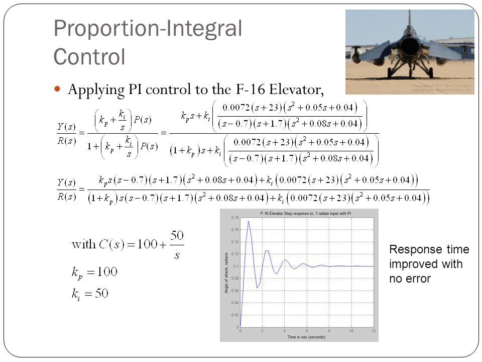 Proportion-Integral Control