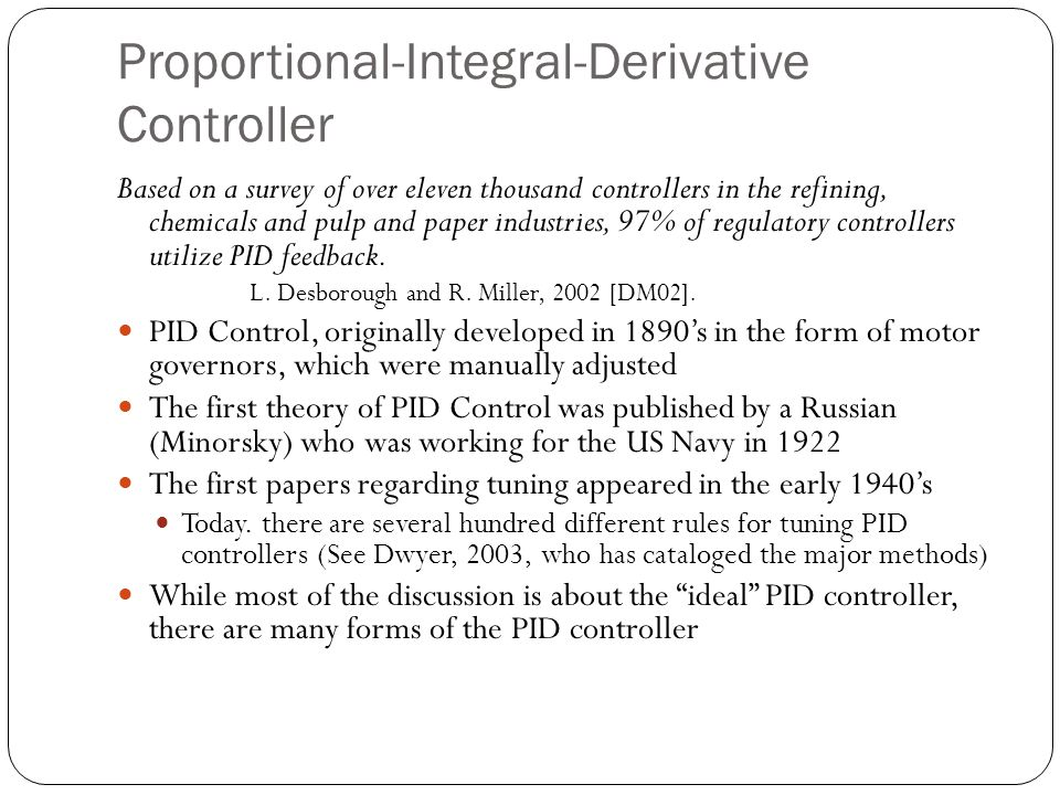 Proportional-Integral-Derivative Controller
