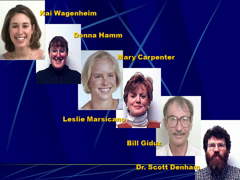 Kai Wagenheim Donna Hamm Mary Carpenter Leslie Marsicano Bill Giduz Dr. Scott Denham