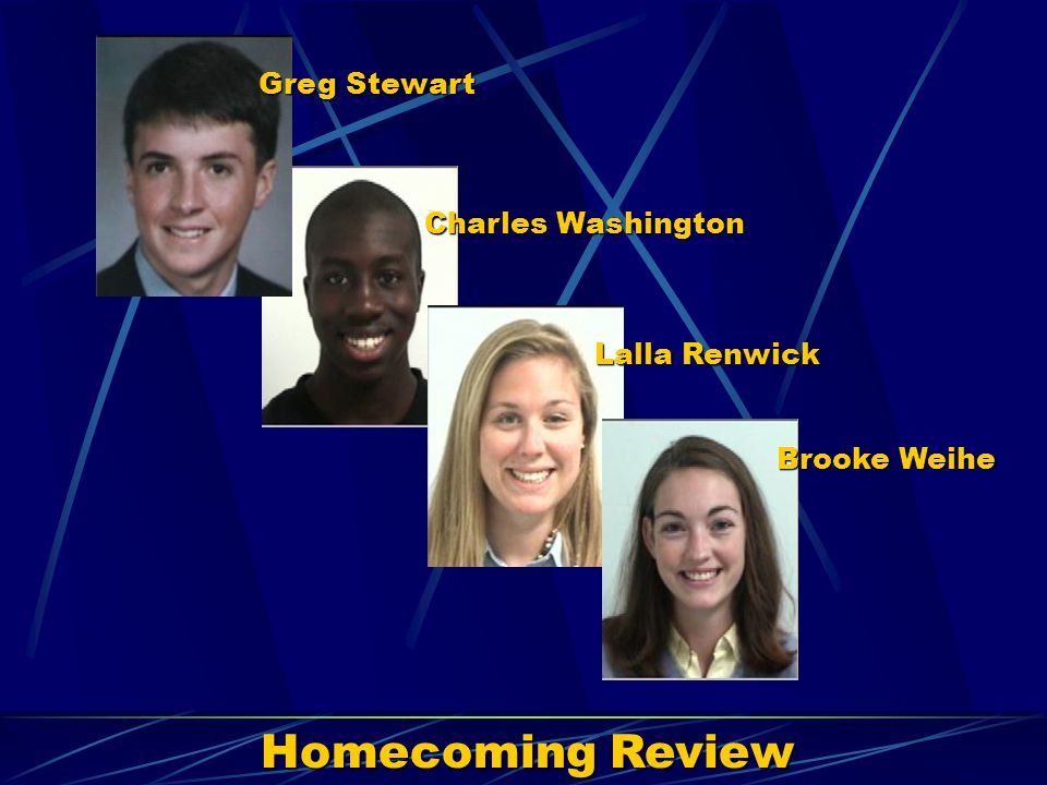 Homecoming Review Greg Stewart Charles Washington Lalla Renwick