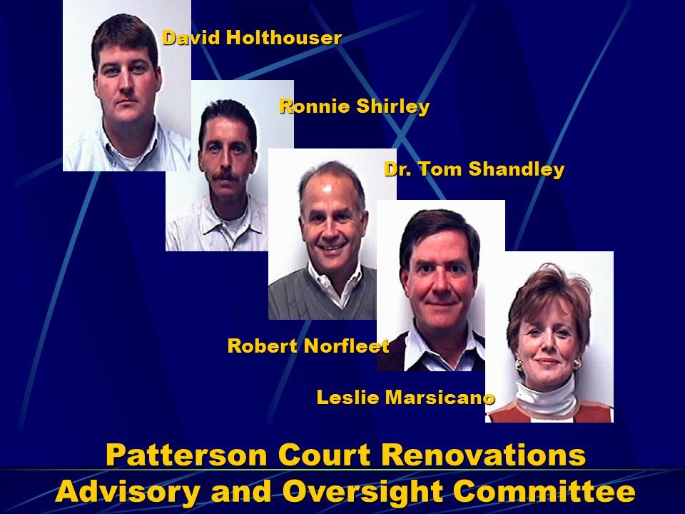 Patterson Court Renovations Advisory and Oversight Committee
