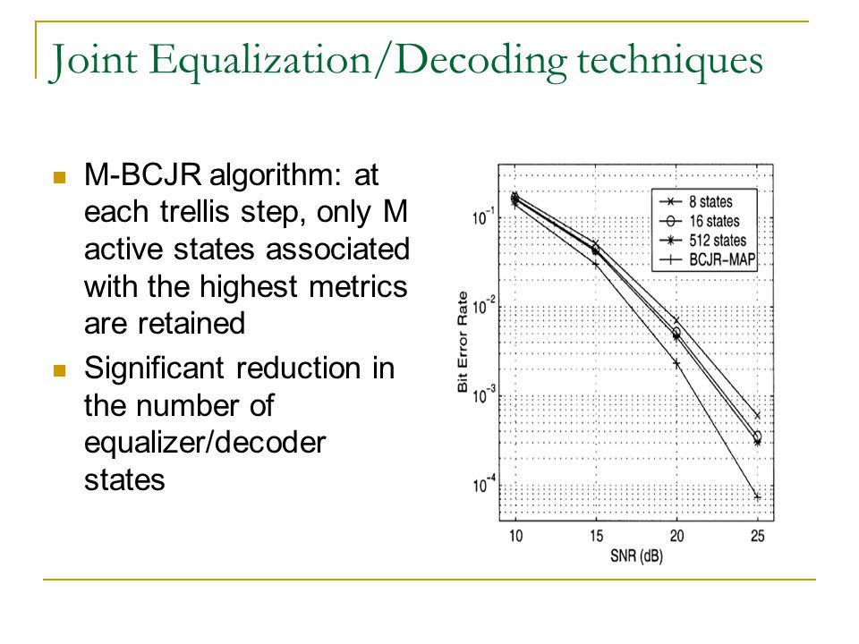 Joint Equalization/Decoding techniques