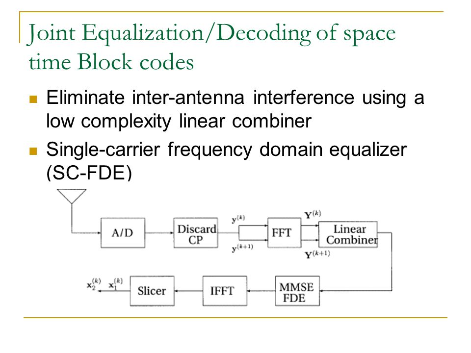 Joint Equalization/Decoding of space time Block codes
