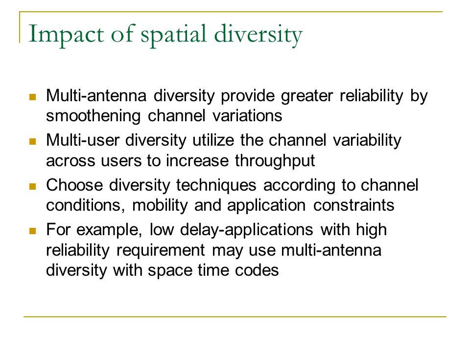 Impact of spatial diversity