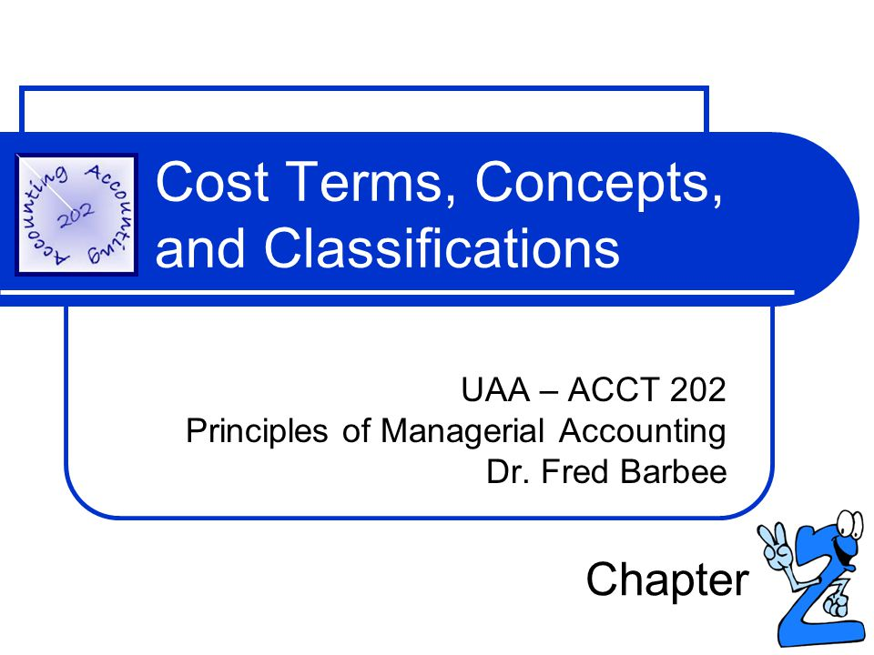 Cost Terms, Concepts, and Classifications