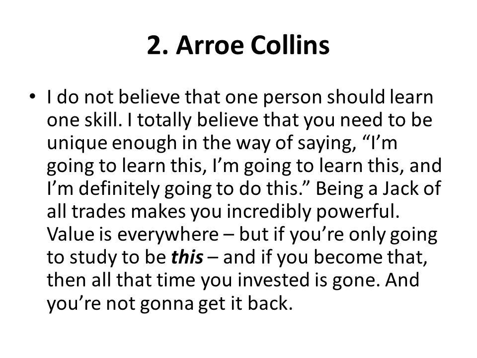 2. Arroe Collins