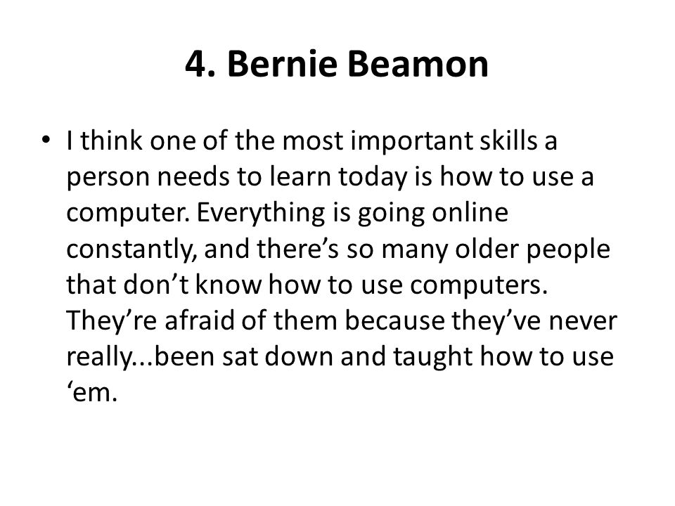 4. Bernie Beamon