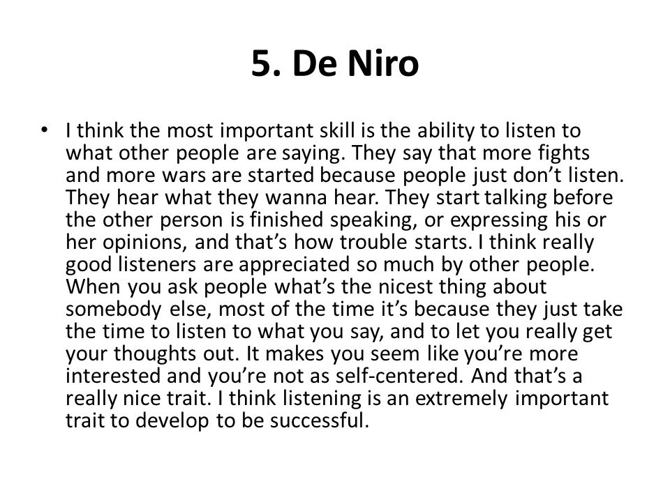 5. De Niro