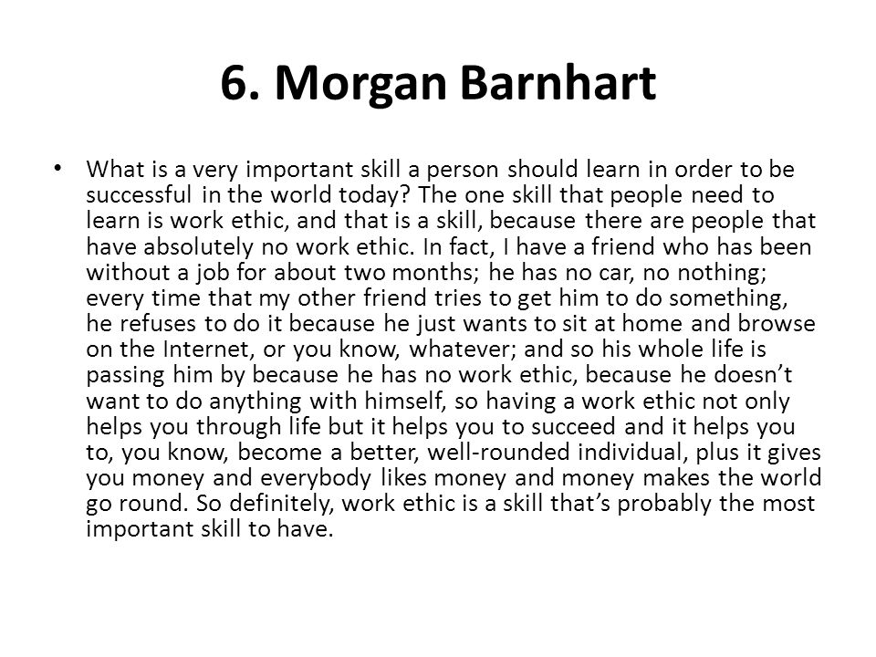 6. Morgan Barnhart