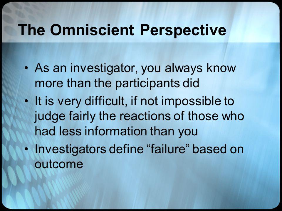 The Omniscient Perspective