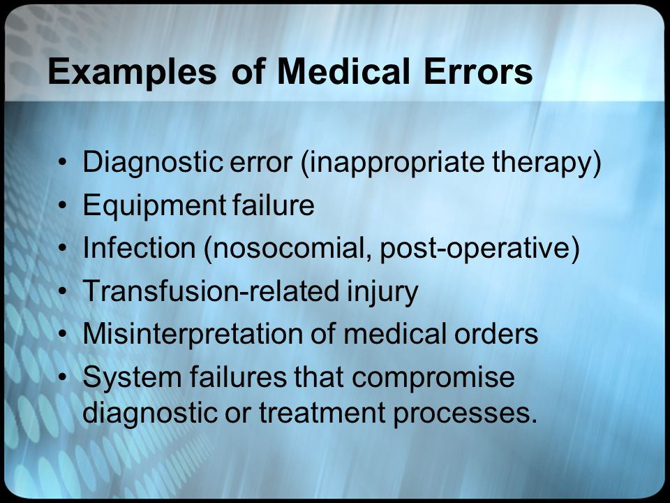 Examples of Medical Errors