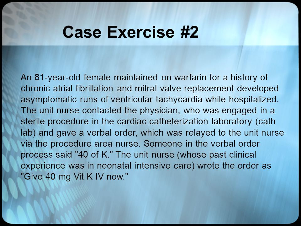 Case Exercise #2