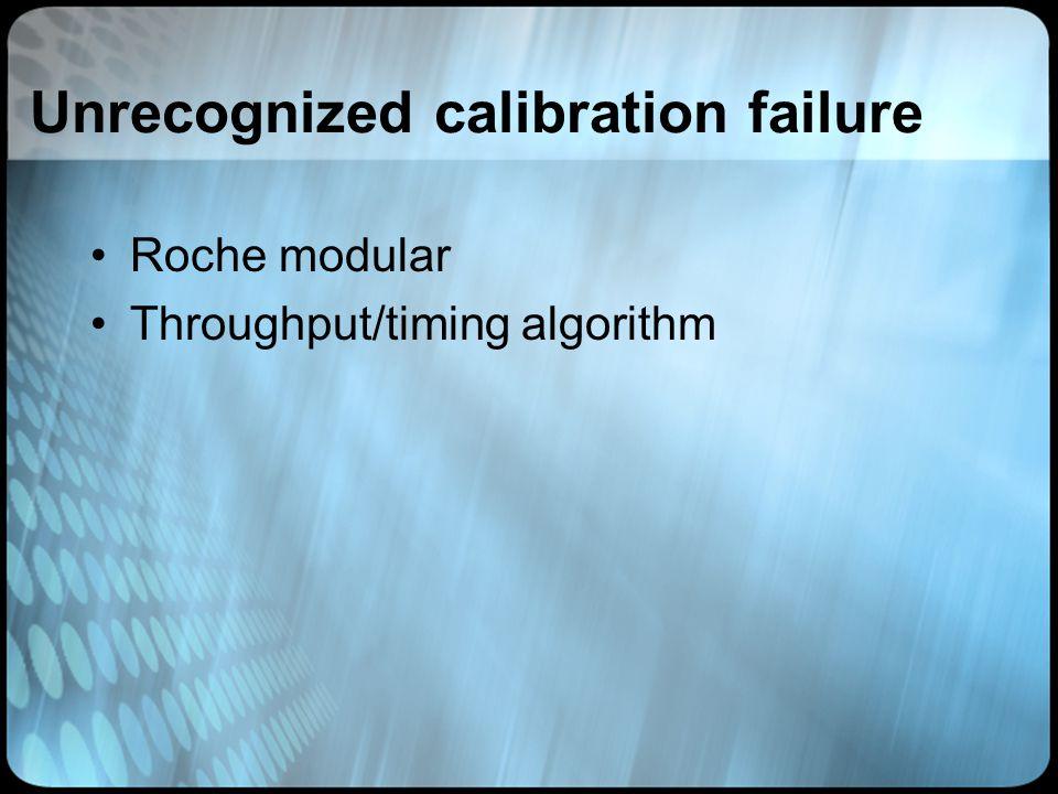 Unrecognized calibration failure