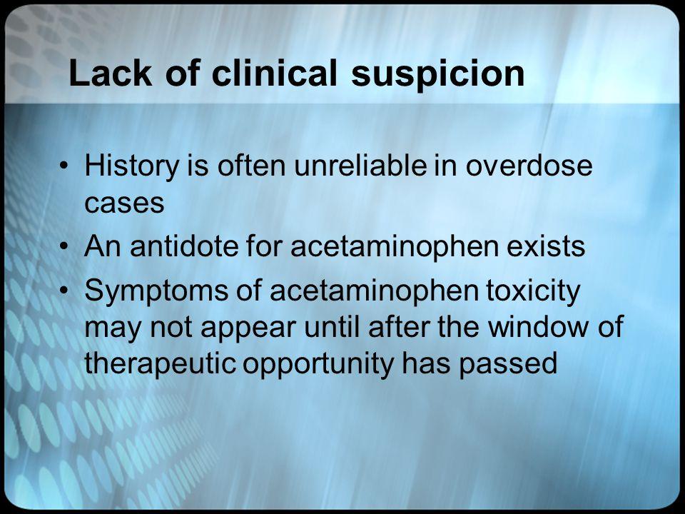 Lack of clinical suspicion