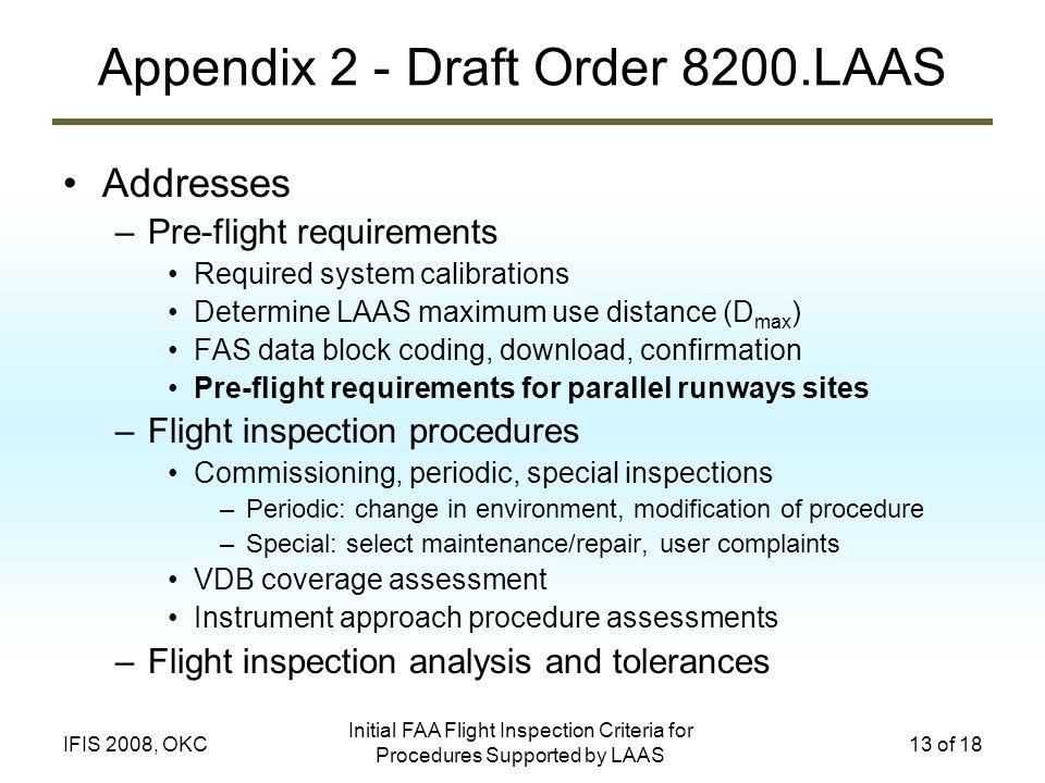 Appendix 2 - Draft Order 8200.LAAS
