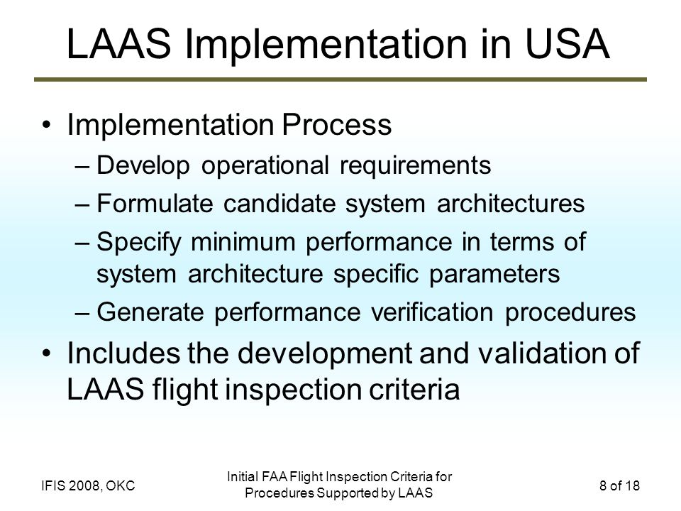 LAAS Implementation in USA