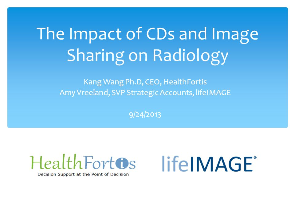 The Impact of CDs and Image Sharing on Radiology