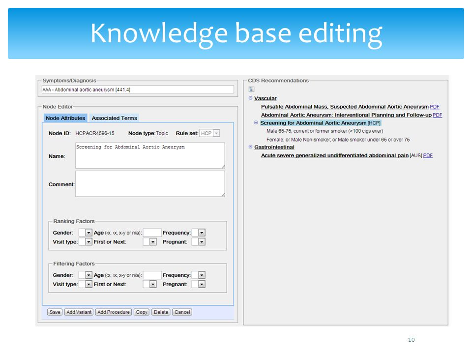Knowledge base editing