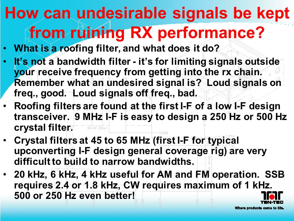 How can undesirable signals be kept from ruining RX performance