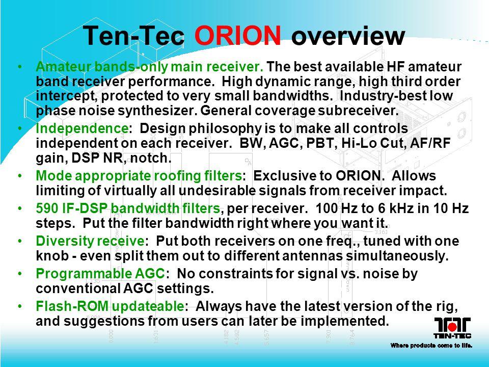 Ten-Tec ORION overview