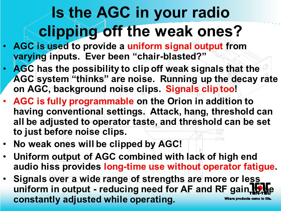 Is the AGC in your radio clipping off the weak ones