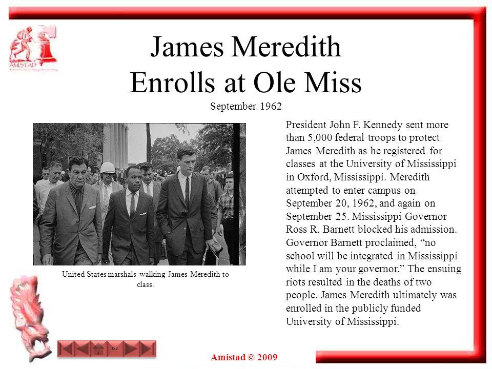 James Meredith Enrolls at Ole Miss September 1962