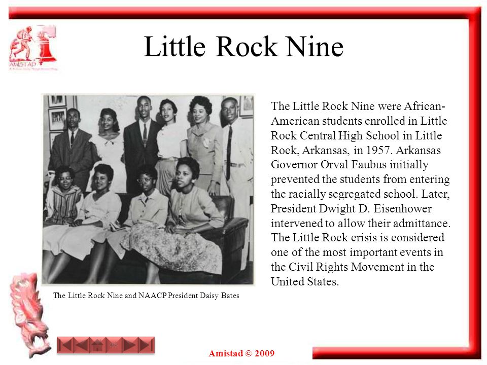 The Little Rock Nine and NAACP President Daisy Bates