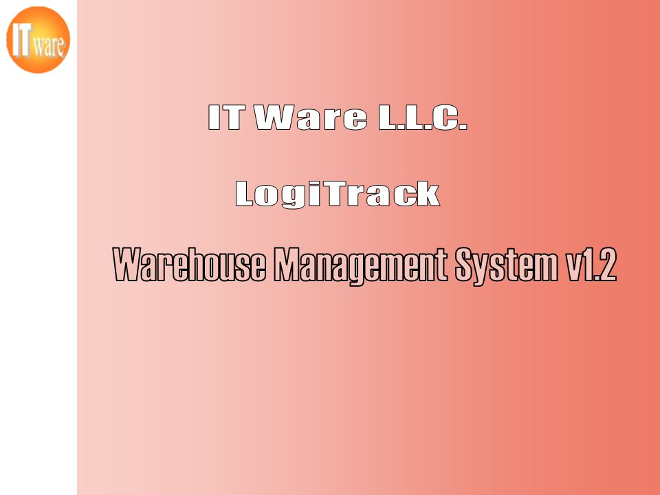 Warehouse Management System v1.2