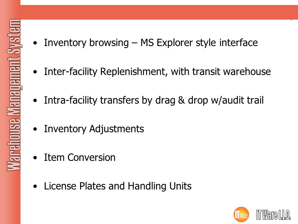Inventory Inventory browsing – MS Explorer style interface
