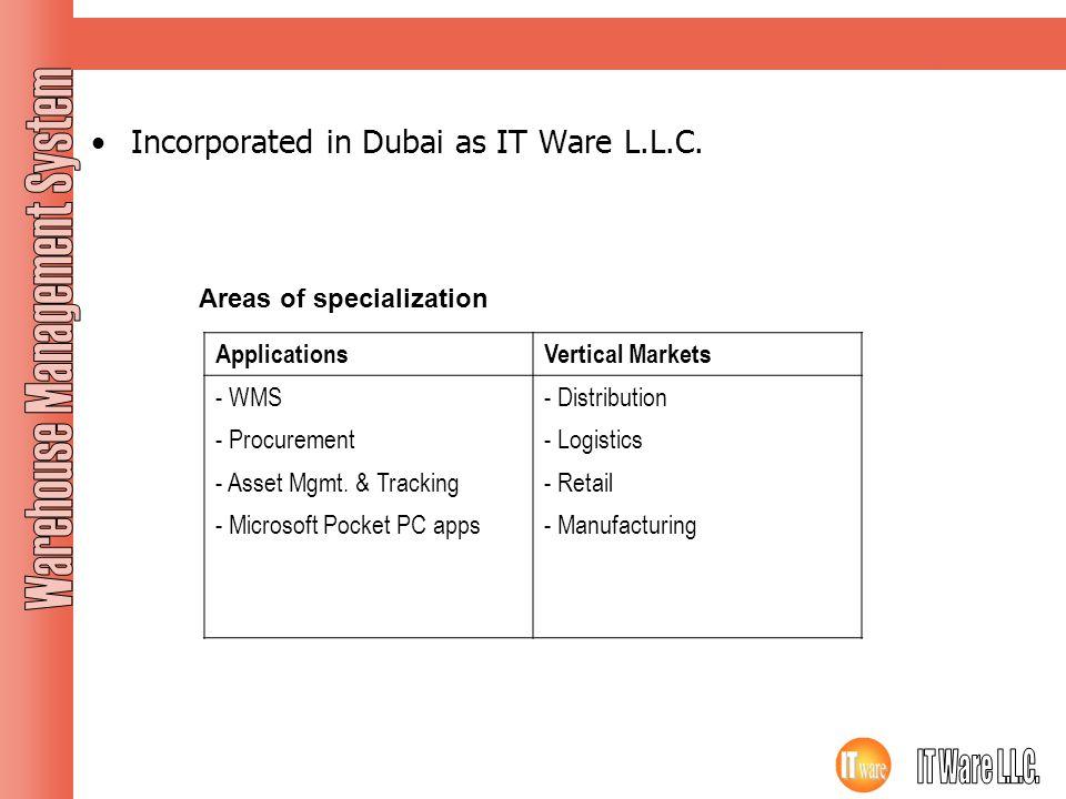 Company Profile Incorporated in Dubai as IT Ware L.L.C.