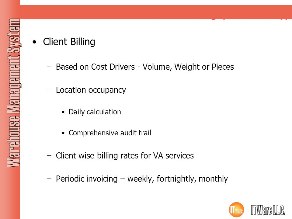 Client Billing (for 3PL only)
