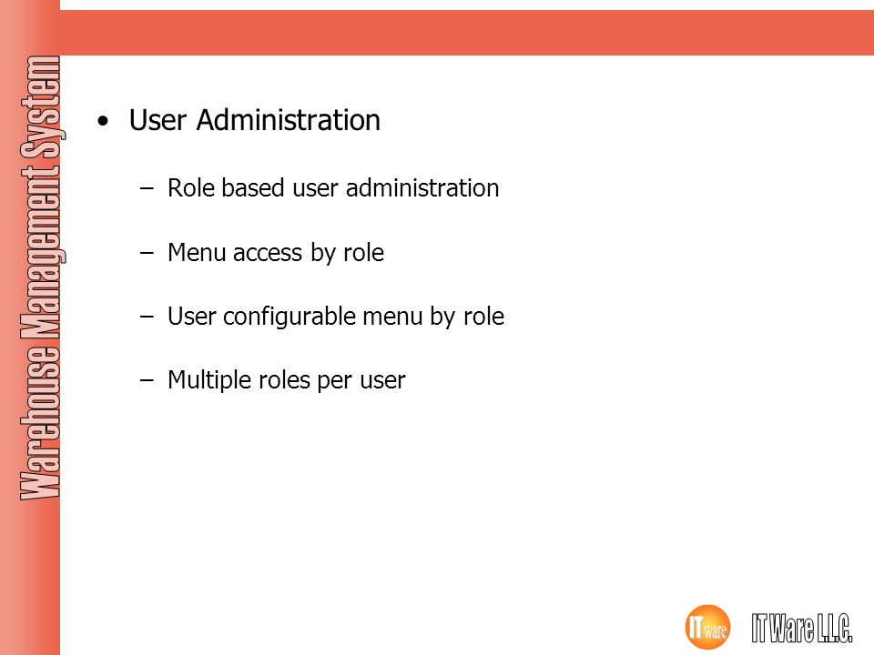 Application Features User Administration