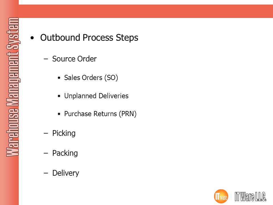Outbound Process Steps