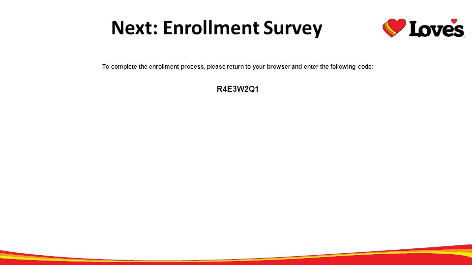 Next: Enrollment Survey