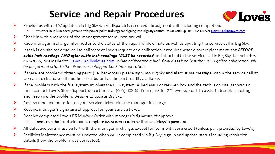 Service and Repair Procedures