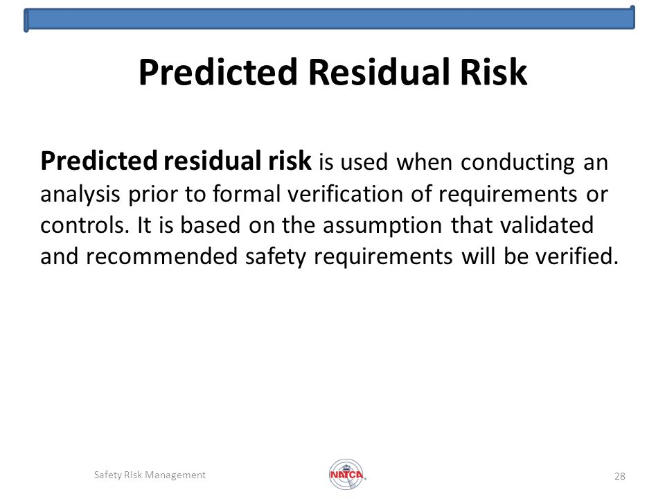 Predicted Residual Risk
